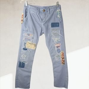 VTG True Religion Patchwork Button Fly Jeans